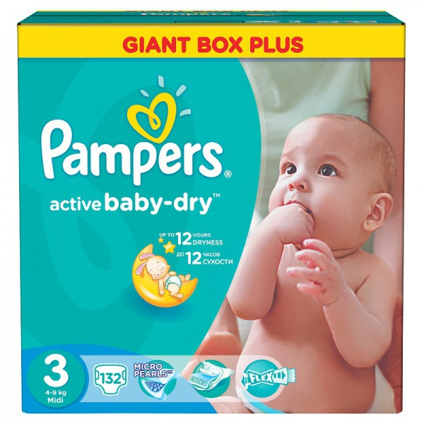 Подгузник Pampers Active Baby