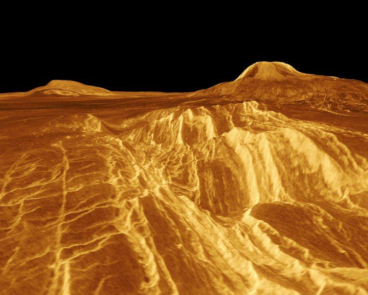 Компьютерная реконструкция плато Elista Regio на Венере