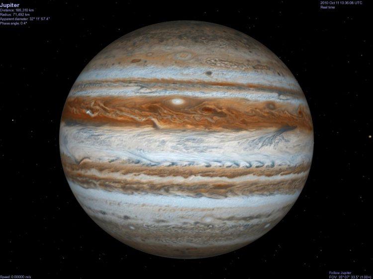 Юпитер — самая большая планета солнечной системы