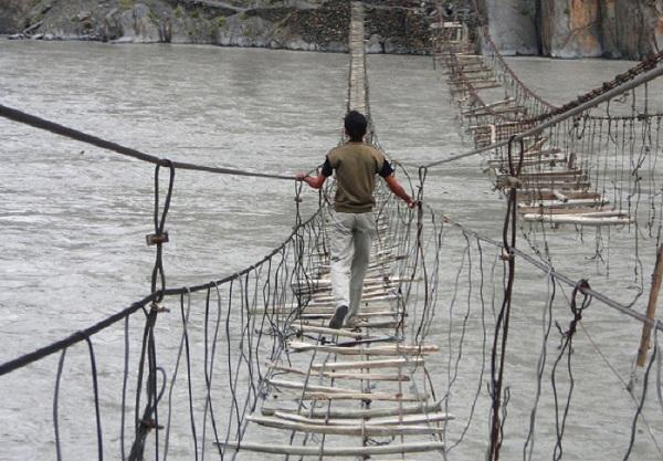 Подвесной мост в Пакистане