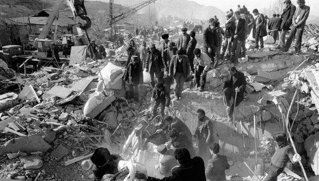 Армянское землетрясение, 1988