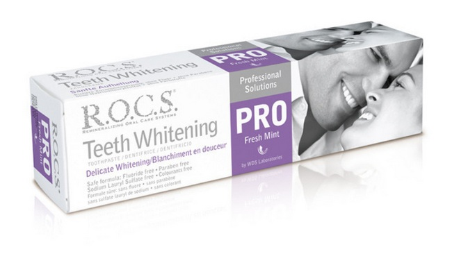 Зубная паста Rocs Pro – Деликатное отбеливание