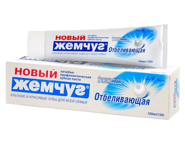 Зубная паста Новый жемчуг – Отбеливающая