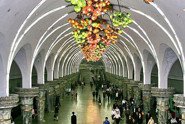 Станция Puhung в Пхеньяне