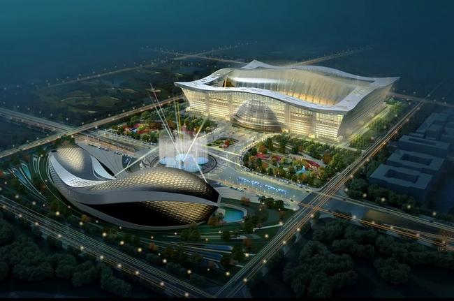 Самый большой в мире торговый центр New Century Global Center