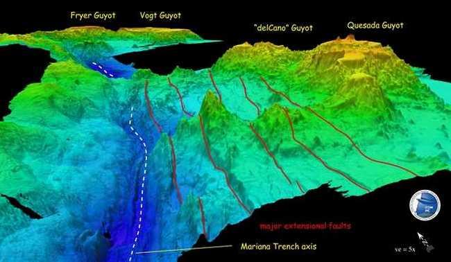 В Марианской впадине обнаружены 4 каменных моста