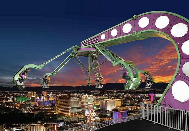 Карусель Insanity в Лас-Вегасе
