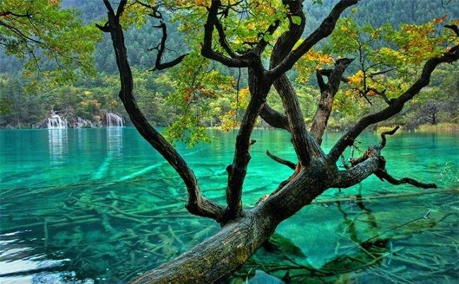 Водопад Жемчужина Цзючжайгоу