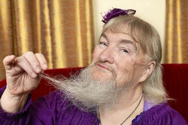 Самая длинная борода у представительницы прекрасной половины