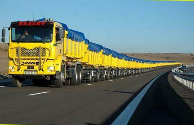 Самый длинный в мире грузовой автомобиль