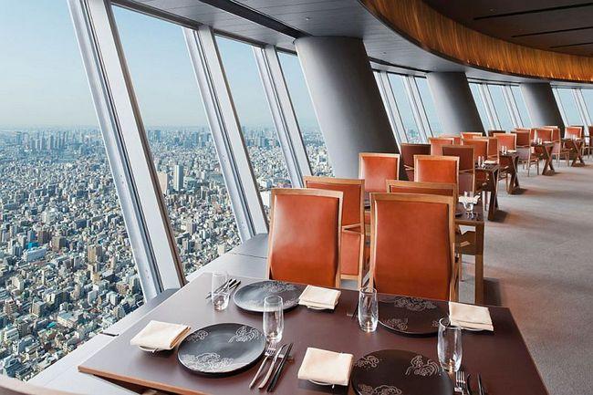 Небесное дерево Токио предлагает посетить рестораны, кафе, музей