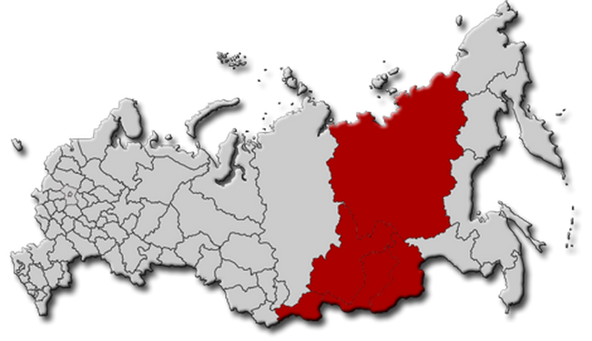Территория Восточной Сибири