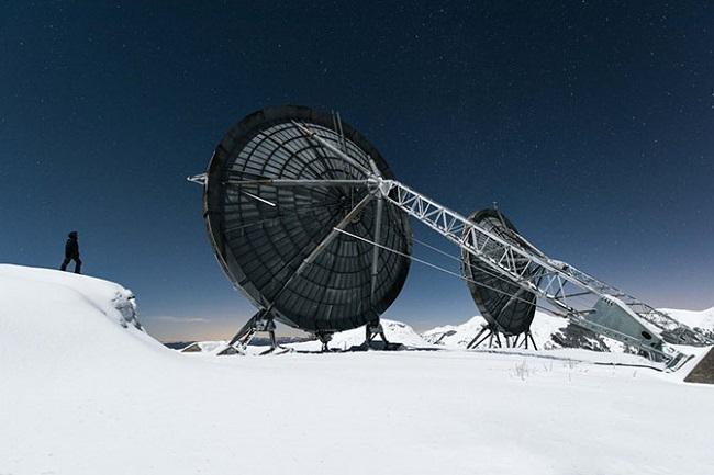 Заброшенная радиолокационная станция в горах Италии