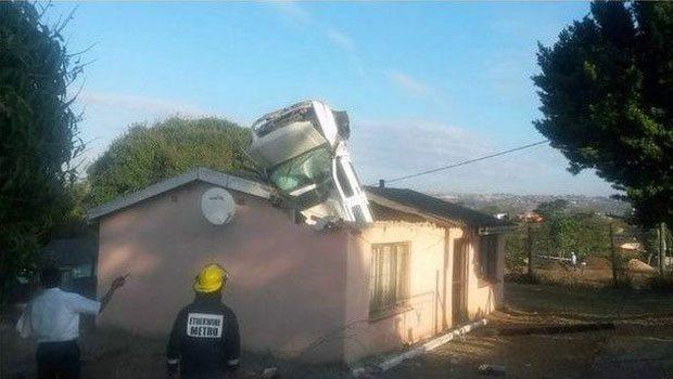 Парковка на крыше дома