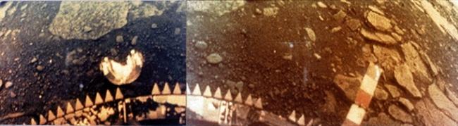 Изображение поверхности Венеры, сделанное аппаратом Венера13