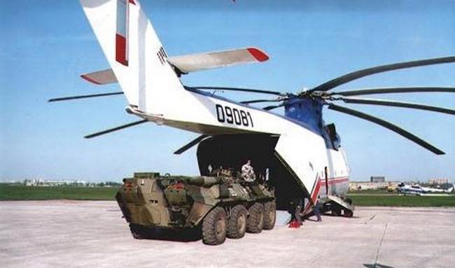 Ми-26 обладает грузоподъемностью до 20 тонн