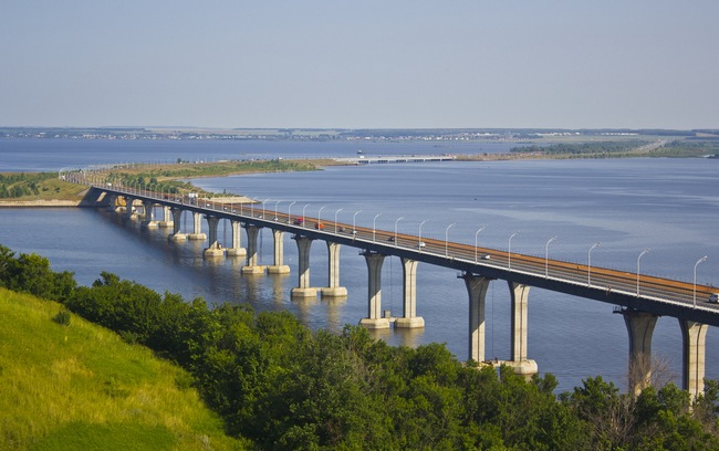 Мост через Каму в Татарстане