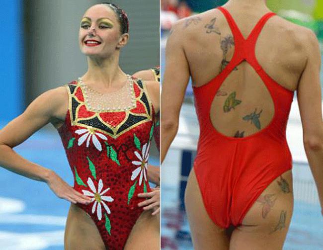 Есть ли у синхронисток татуировки?
