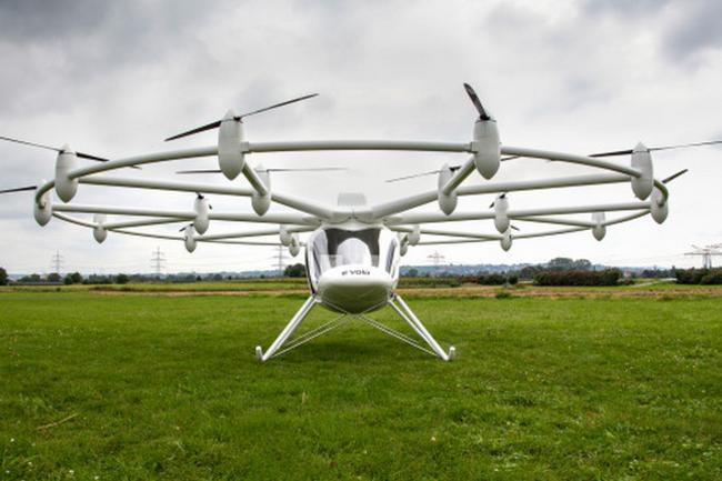Самый большой квадрокоптер Volocopter