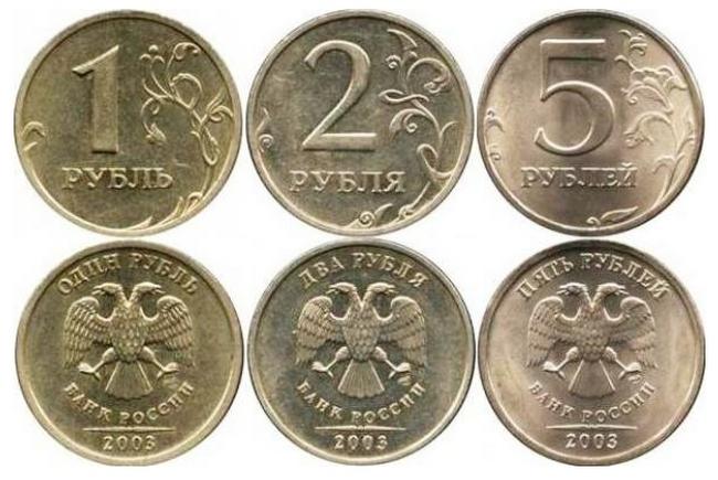 1,2,5 рублей 2003 года СПМД
