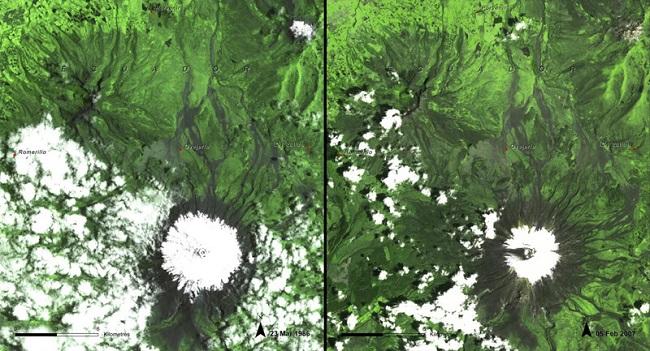 Ледник на вершине вулкана Котопахи
