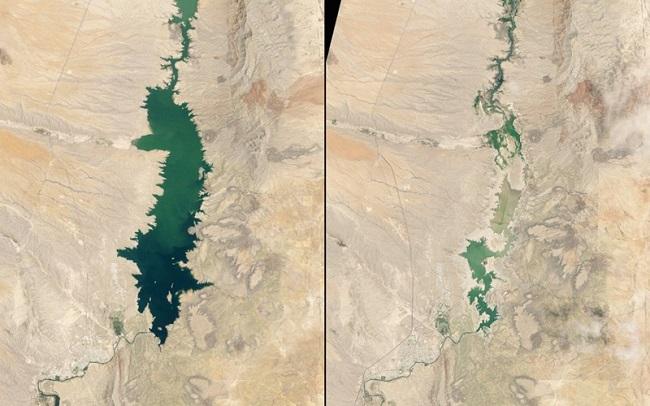 Огромное озеро в национальном парке Нью-Мексико