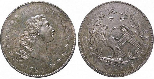 Доллар Распущенные волосы 1794 года