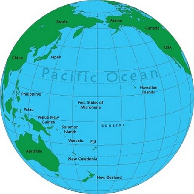 Самый теплый океан - Тихий океан