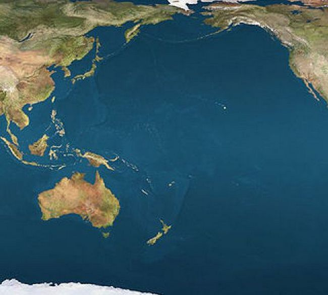 Самый большой океан в мире - Тихий океан