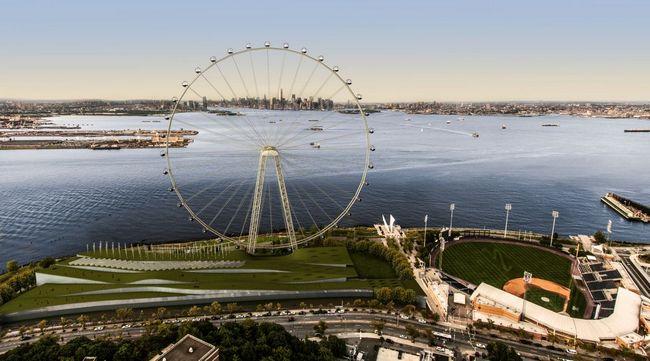 Скоро заработает колесо обозрения в Нью-Йорке, высота которого составит 190 метров