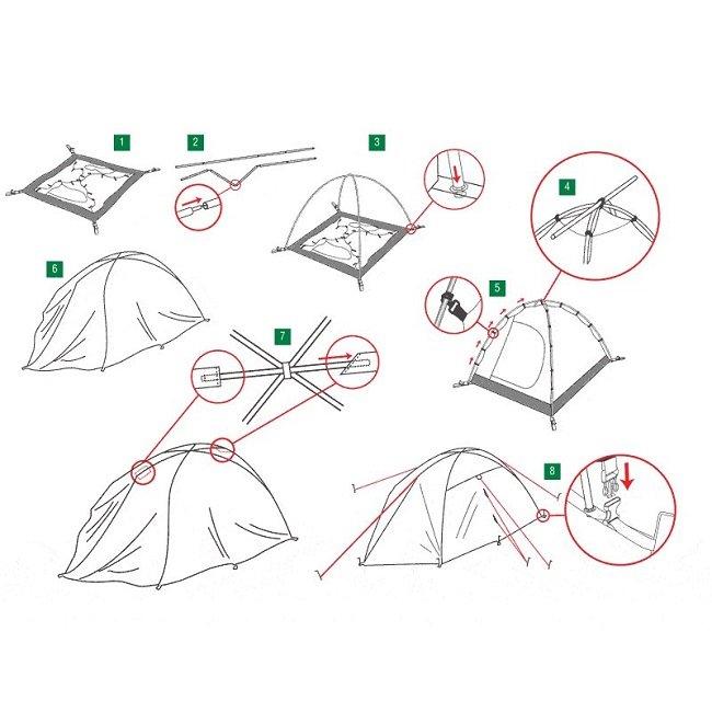 собираем палатку
