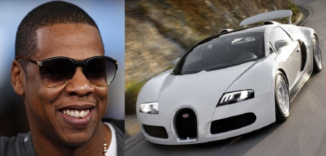 Jay-Z и подаренный ему Bugatti veyron Grand Sport