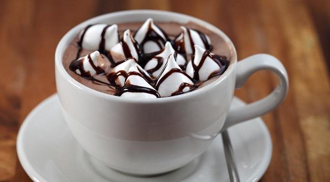 Кофе с пенкой из маршмеллоу