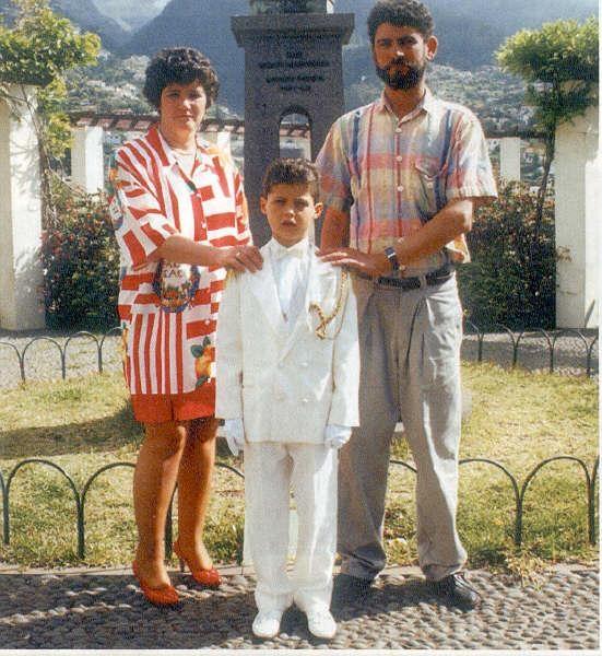Криштиано Роналду с семьей
