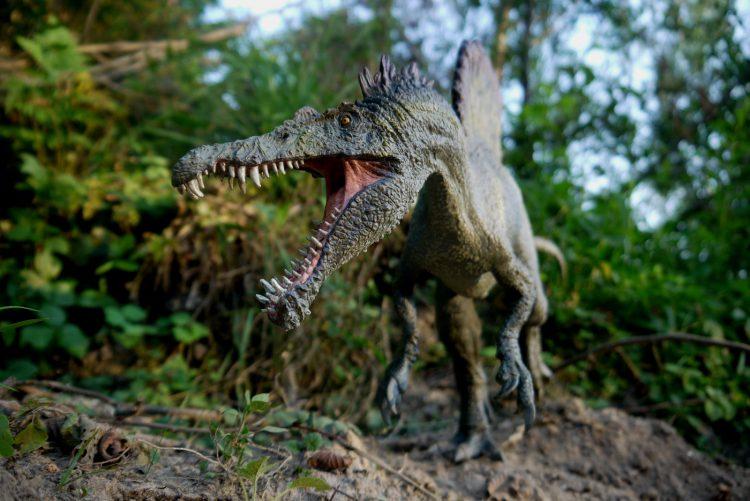 Огромный спинозавр