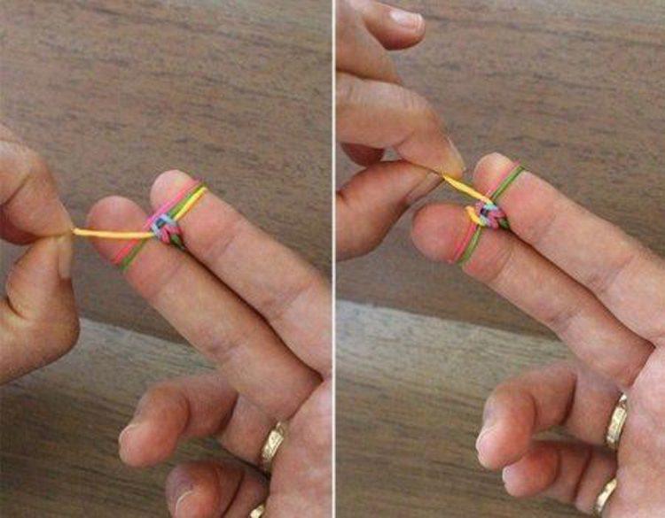 Плетем браслеты на пальцах