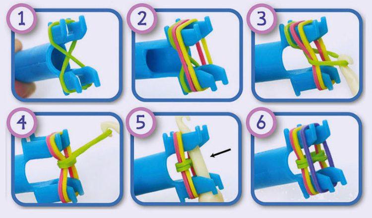 Плетем браслеты на рогатке