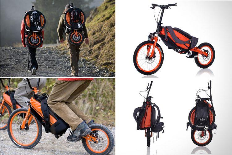Велосипед, превращающийся в рюкзак