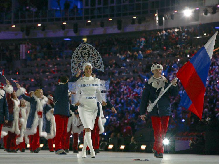 На открытии Олимпийских игр в Сочи