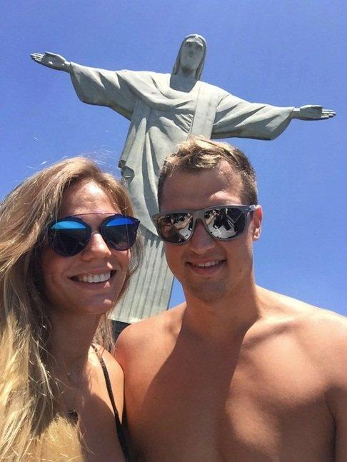 Юля и Никита на отдыхе в Рио-де-Жанейро