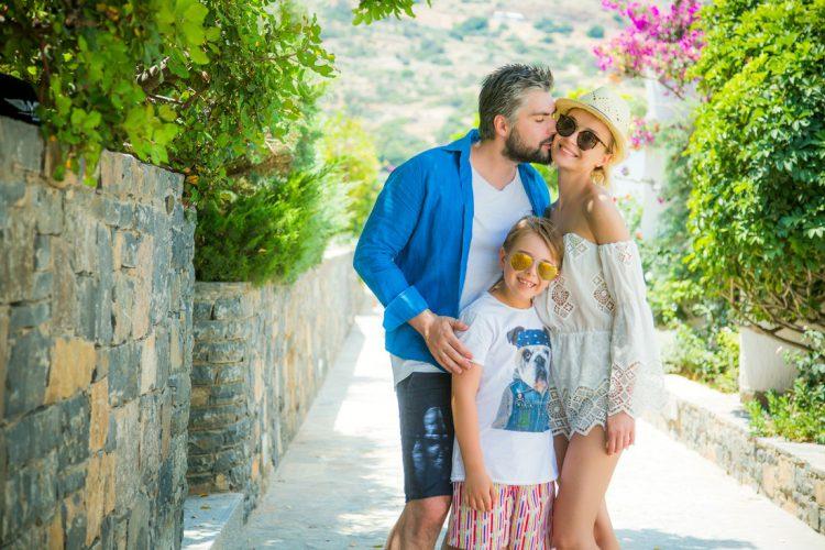 Дмитрий, Полина ее и сын от первого брака Андрей