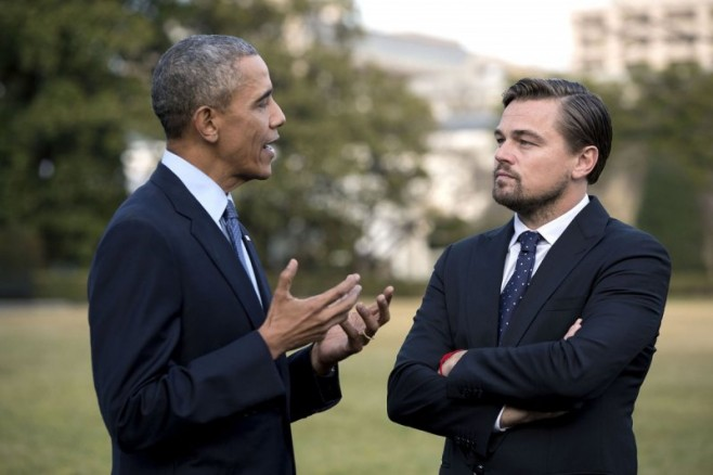 Ди Каприо и Обама