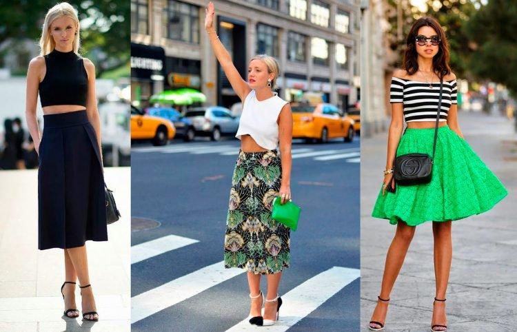 юбки и брюки с завышенной талией