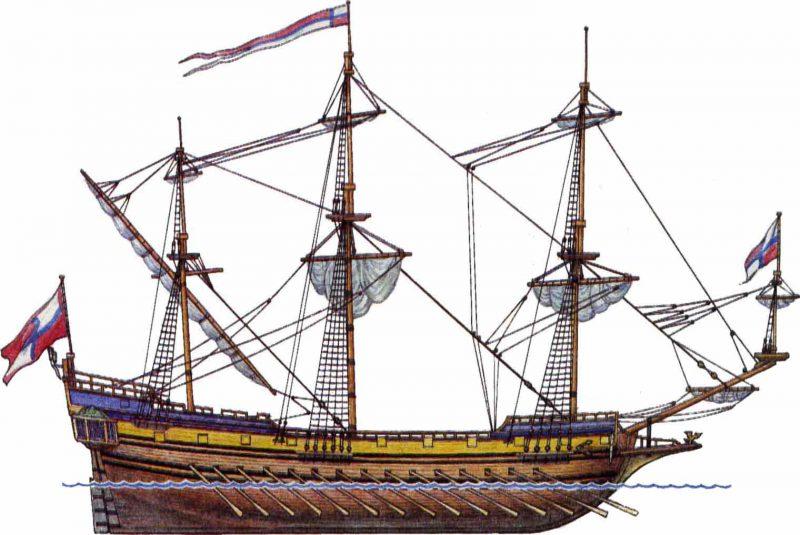 Корабль 17 век