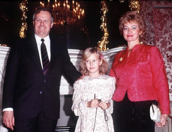 С отцом и мамой