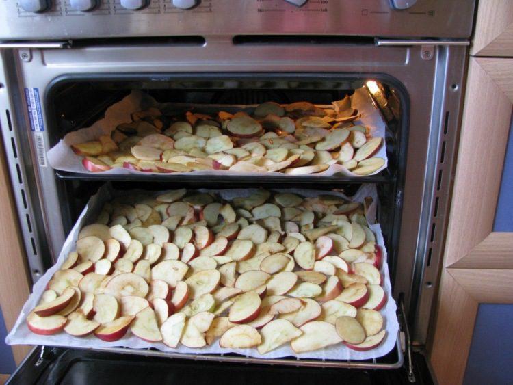 сушка яблок в духовом шкафу