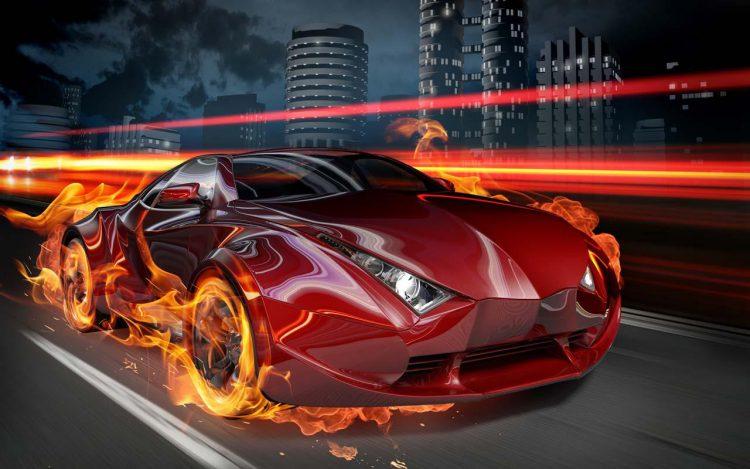 Ускорение двигателя автомобиля