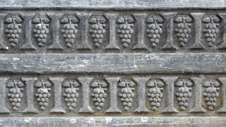 Цементная стена с виноградом