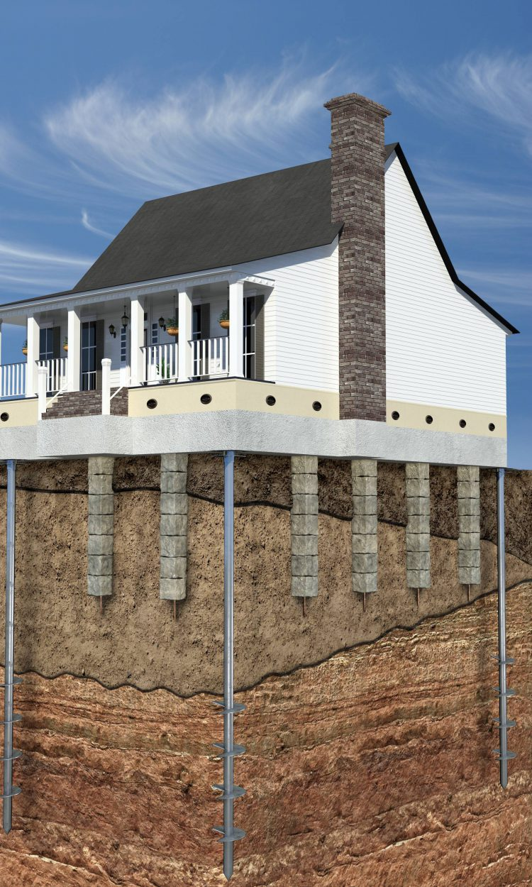 Дом на фундаменте на столбах