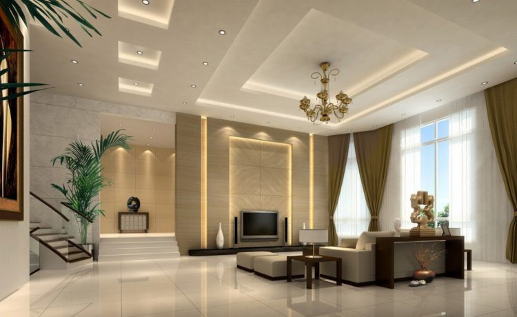 Декор стен и потолка из гипсокартона
